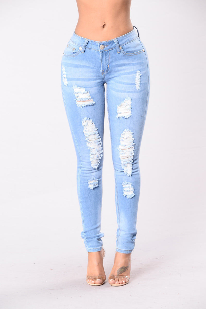 Addicted In Every Way Jeans - Light Blue