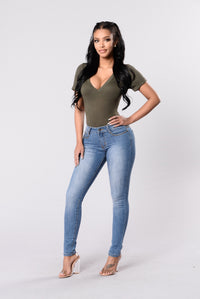 Hit Rewind Jeans - Medium Blue