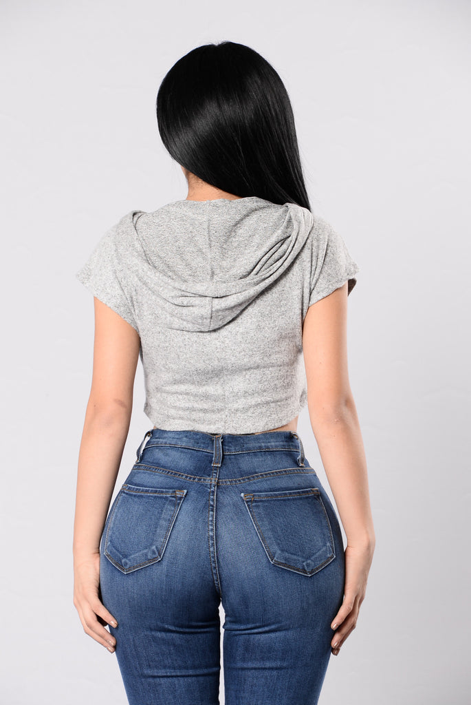 Small Talk Top - Heather Grey