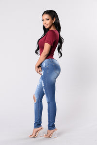 Dream On Jeans - Medium Wash Angle 6