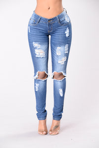 Dream On Jeans - Medium Wash Angle 1