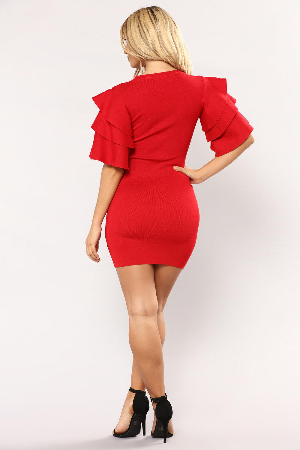 Madden Knit Dress - Red