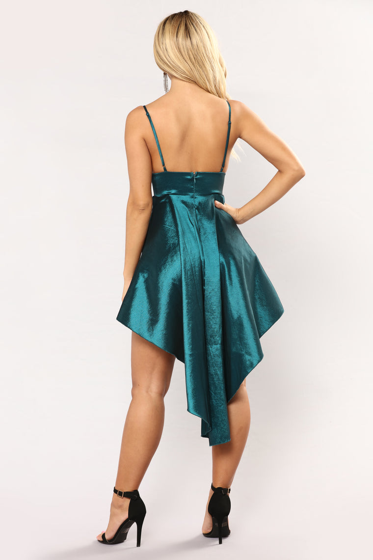 Arianna Formal Dress - Hunter Green