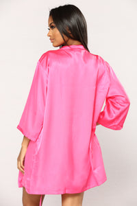 Satin N Sweet Robe - Fuchsia
