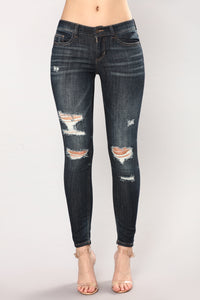 Infatuated Skinny Jeans - Dark Angle 2