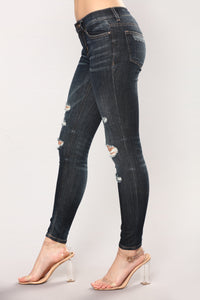 Infatuated Skinny Jeans - Dark Angle 4