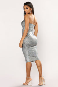 A Shimmer Frenzy Dress - Silver