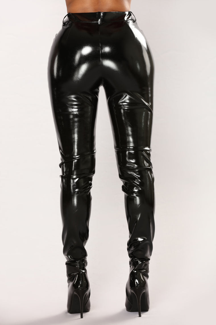 You Get Pretty Wild Latex Pants - Black