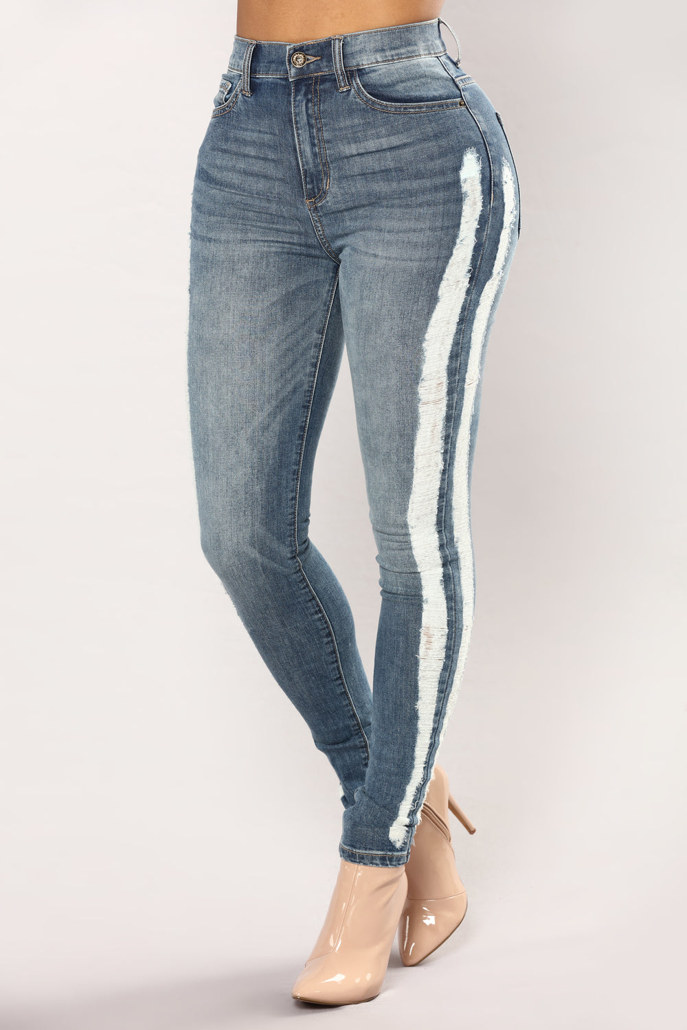 I'm So Into You Skinny Jeans - Medium Blue Wash