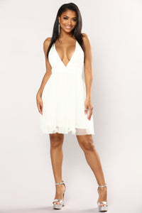Marie Tulle Dress - White