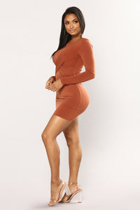 Sheena Dress - Rust