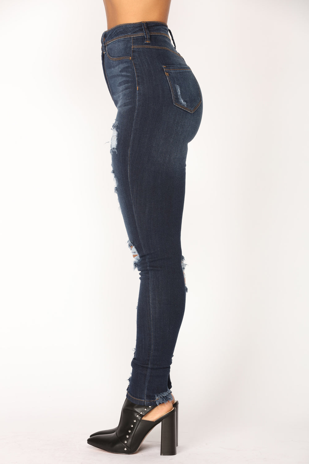 Blue My Mind Skinny Jeans - Dark Denim