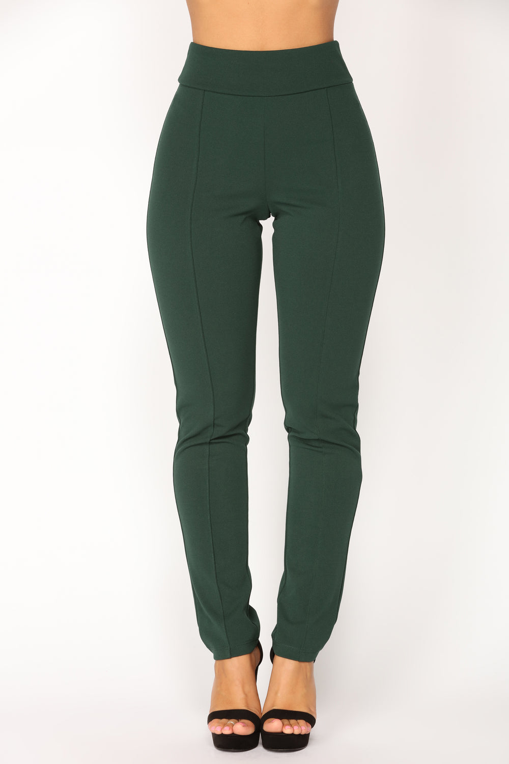 Lawrence High Rise Pants - Hunter Green