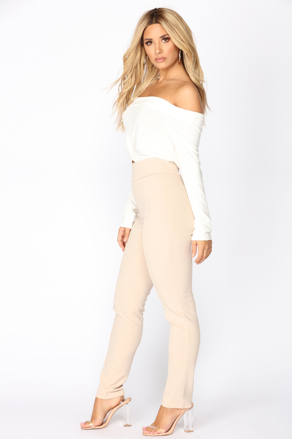 Lawrence High Rise Pants - Nude