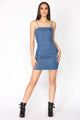 Pearl Of Joy Denim Dress - Medium Wash