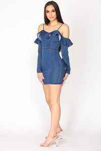 Ten I See Denim Dress - Dark Wash