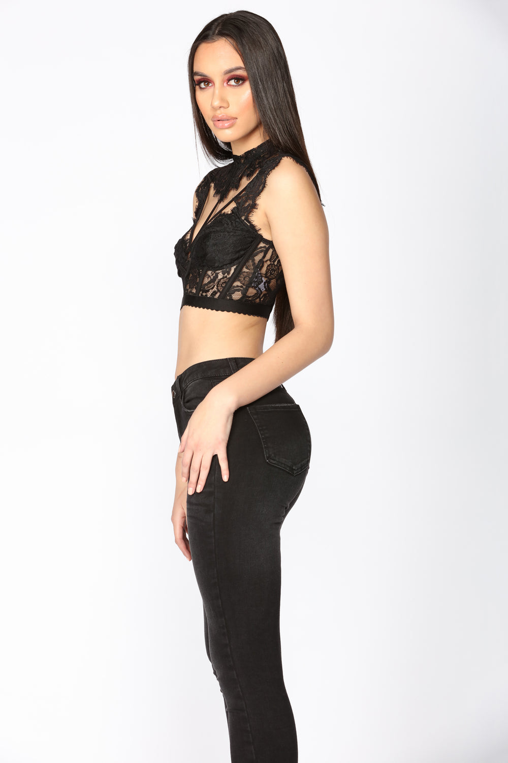 Laced In You Top - Black