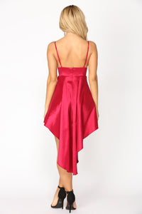 Arianna Formal Dress - Wine