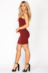 Aniya Sweater Dress - Bugundy
