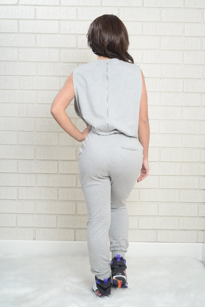 Harlem Jumpsuit - Heather Grey