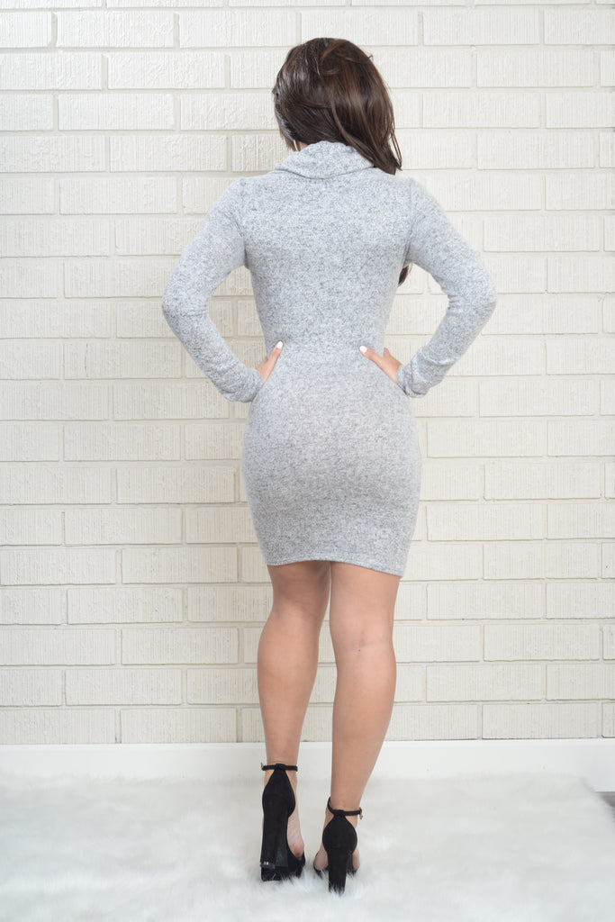 Madeline Dress - Heather Grey