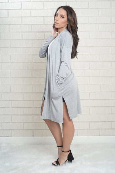 Freefallin' Cardigan - Heather Grey