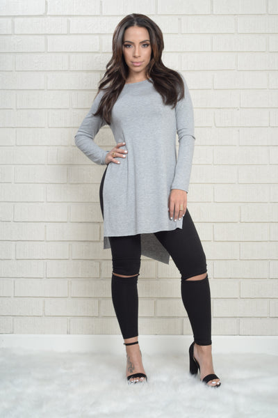 Libby Top - Grey