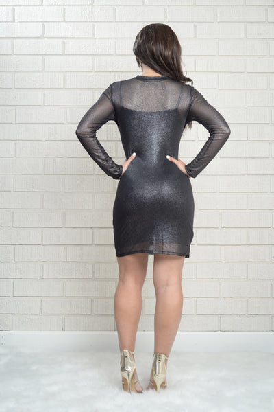 All That Glitters Dress - Black
