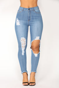 Come Up Ankle Jeans - Medium Denim