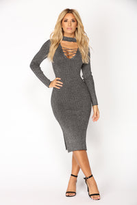 Gayle Knit Dress - Gray