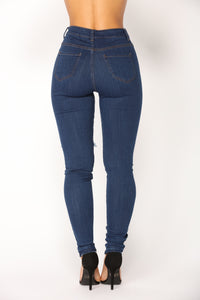After Dark Skinny Jeans - Dark Denim