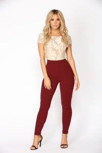 Victoria High Waisted Leggings - Wine