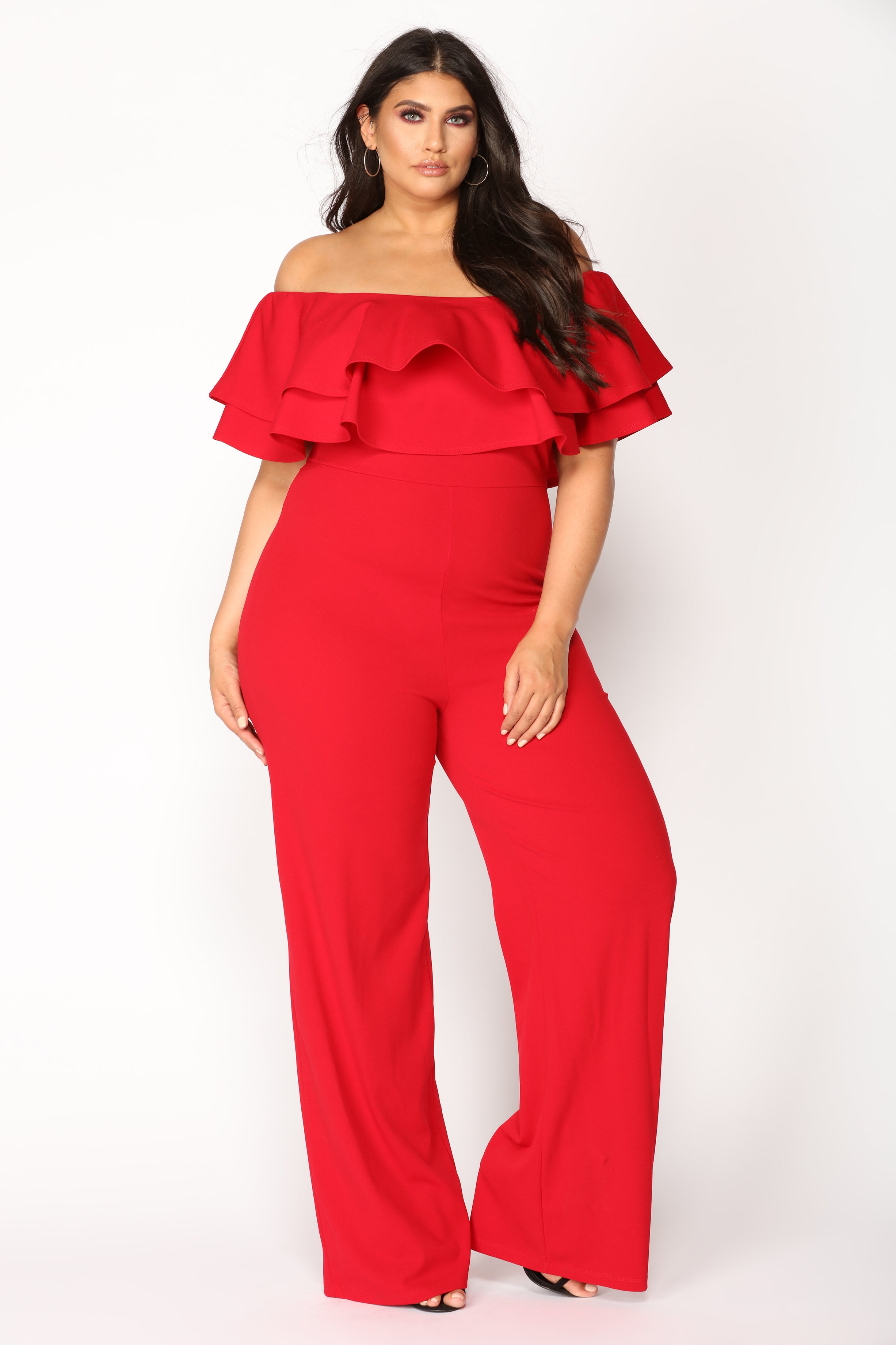 5ad74f167f1 Ready To Ruffle Jumpsuit - Red. plus-size