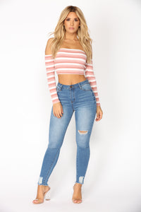 No Turning Back Crop Top - Mauve