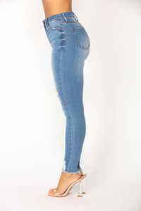 Dirty Martini Skinny Jeans - Medium Blue Wash