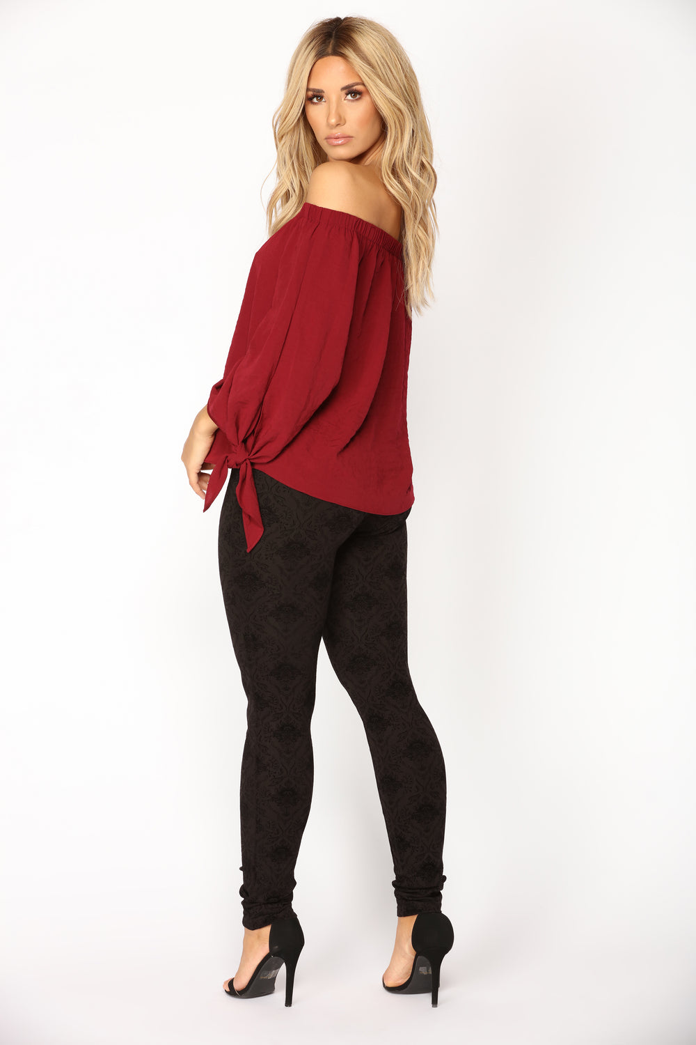 Dima Flocked Leggings - Black