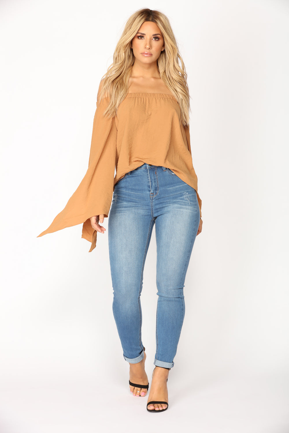 Dakota Off Shoulder Top - Mustard