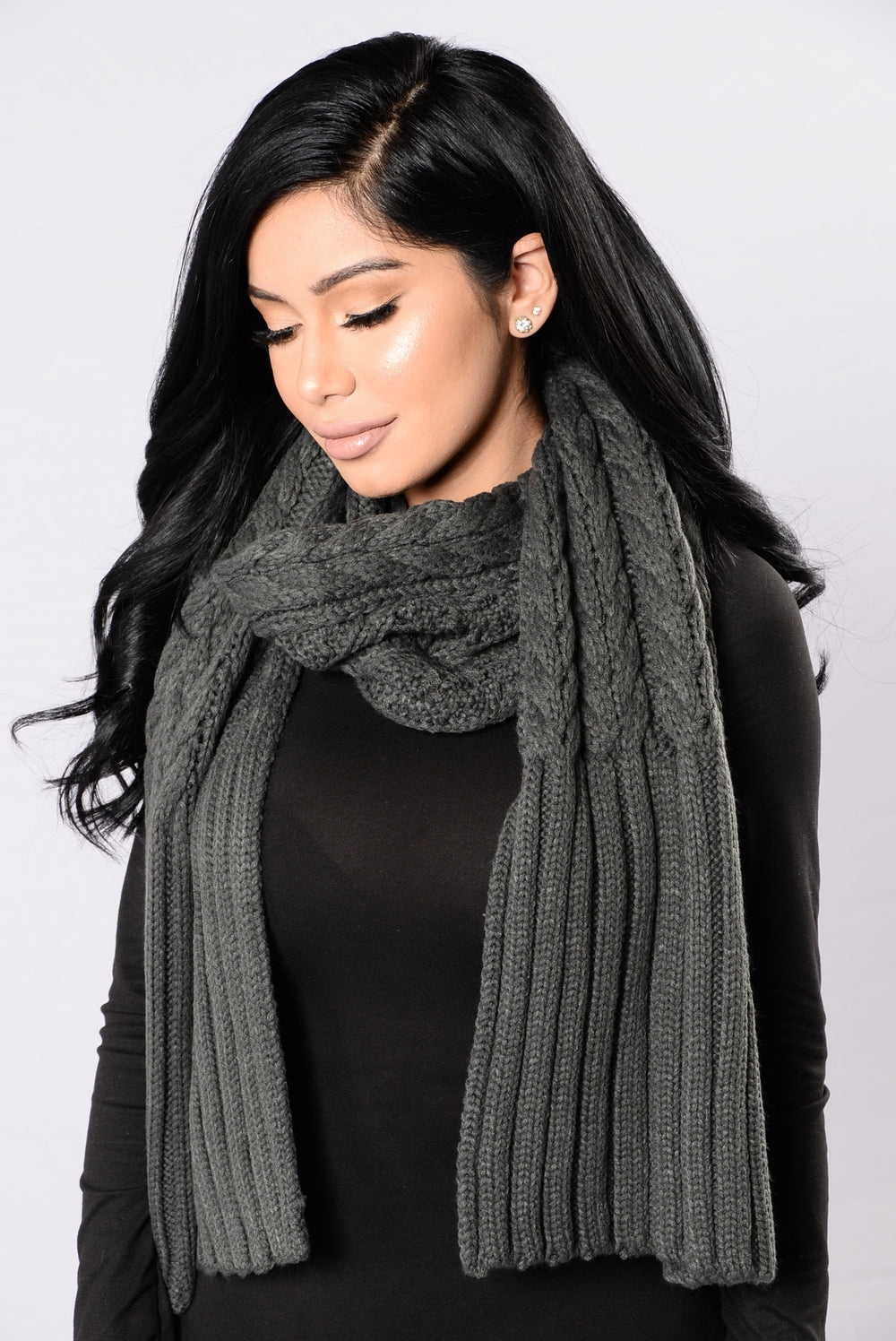 Knitty Gritty Scarf - Charcoal