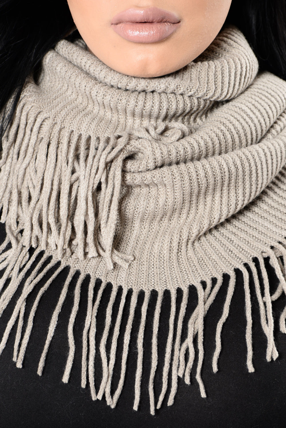 Wrapped All Up Infinity Scarf - Khaki