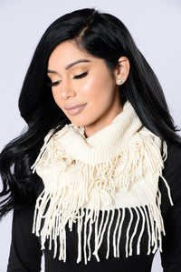 Wrapped All Up Infinity Scarf - Ivory