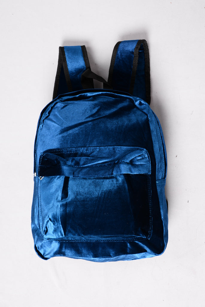 Velvet Vibes Backpack - Navy