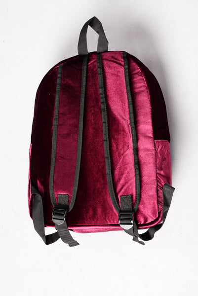 Velvet Vibes Backpack - Burgundy