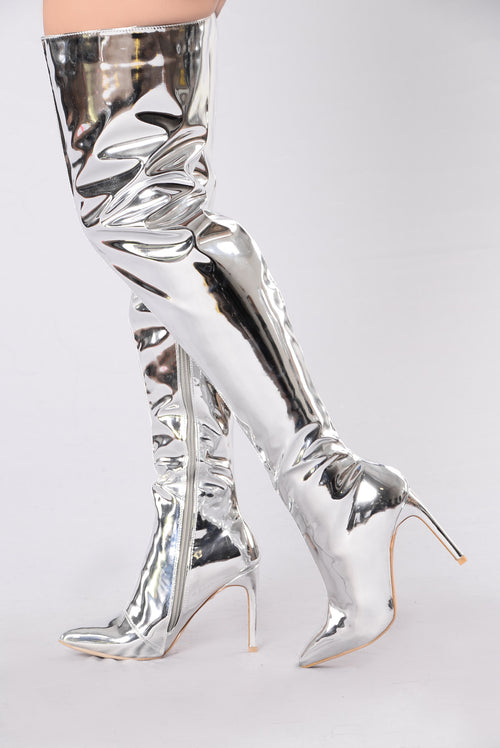 Sky Might Fall Boot - Silver