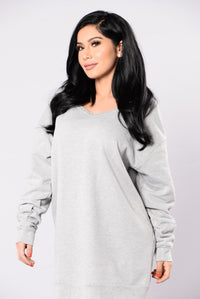 Get Up And Go Dress - Heather Grey