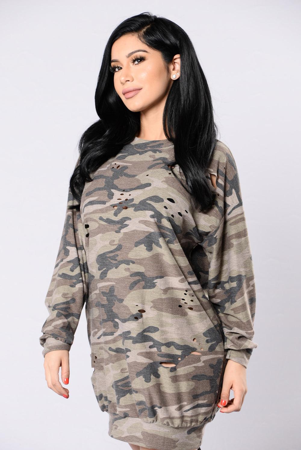 Hidden From Love Tunic - Camo
