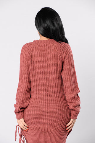 No Excuses Sweater - Mauve
