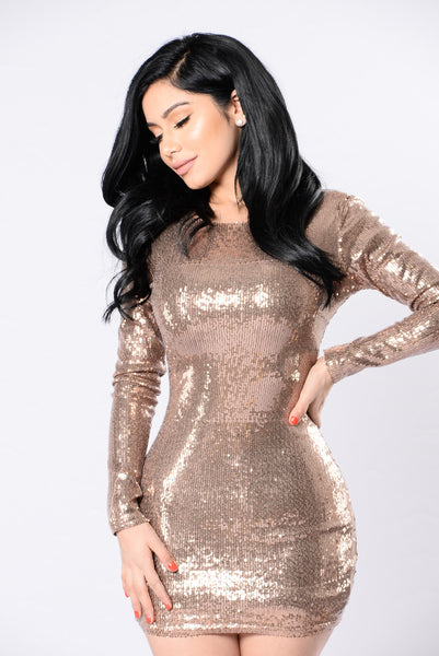No Love Allowed Dress - Gold