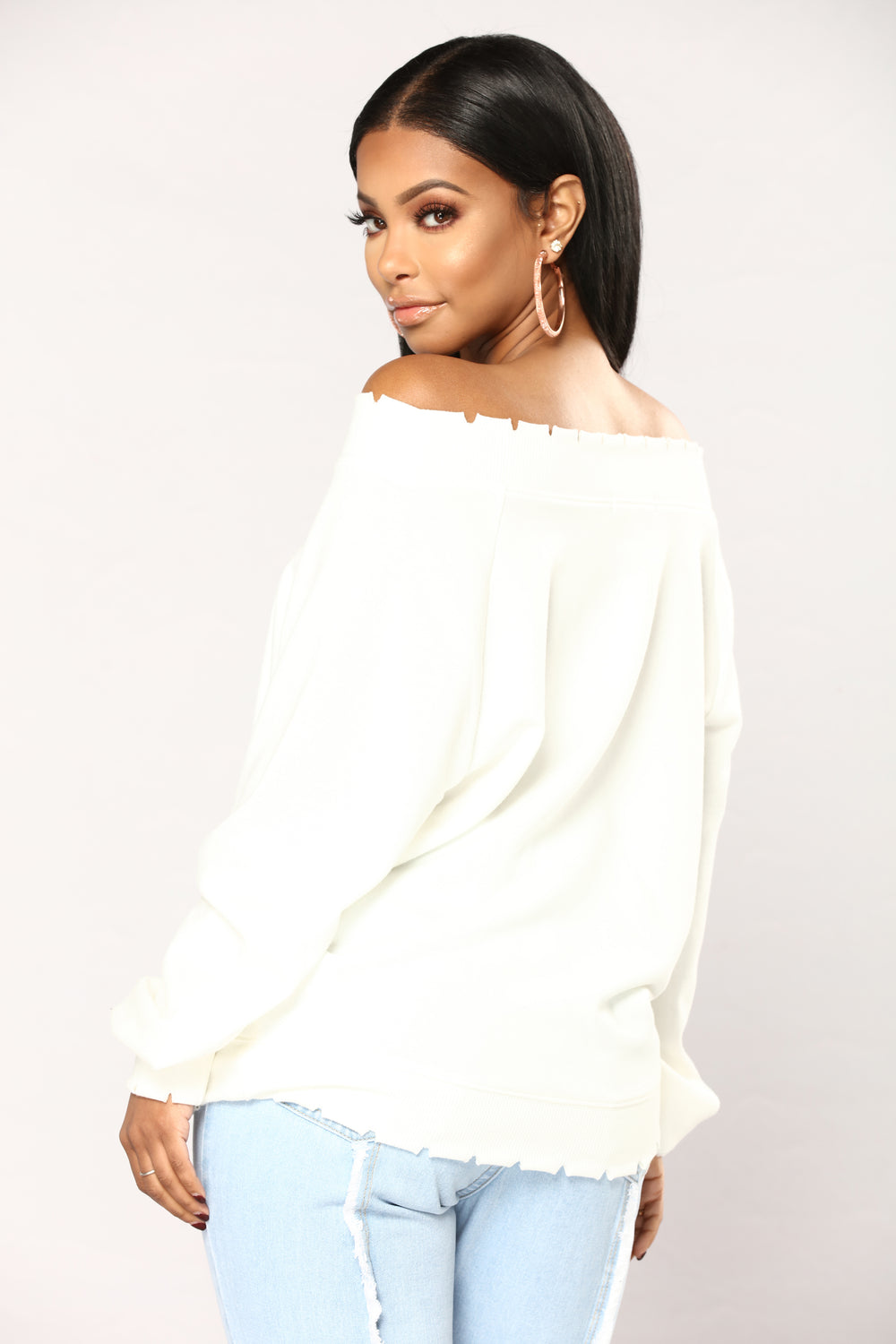 Michaela Off The Shoulder Top - Ivory