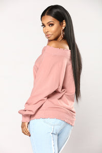 Michaela Off The Shoulder Top - Pink