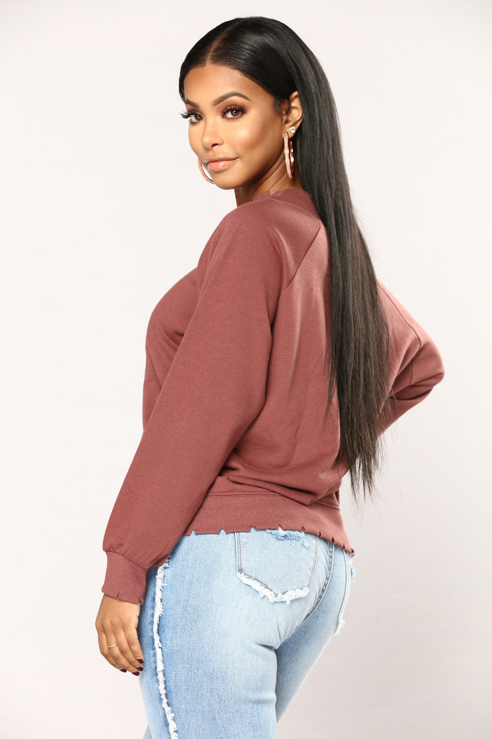 Michaela Off The Shoulder Top - Brick Red